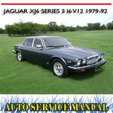JAGUAR XJ6 SERIES 3 I6 V12 1979-92 WORKSHOP SERVICE REPAIR + PARTS MANUAL ~ DVD