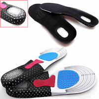 1 Pair Silicone Gel Plantar Fasciitis Orthotic Insoles Arch Support Shoe Pads US