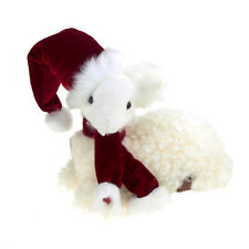 Sitting Santa Sheep Christmas Decoration, 9-Inch x 10-Inch