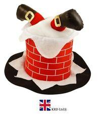 CHIMNEY SANTA HAT Kids Adult Headwear Fancy Dress Christmas Party Fun Gift UK
