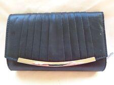 Colette by Colette Hayman new black clutch bag Lola pleat