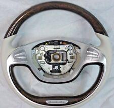 Mercedes-Benz Maybach OEM W222 S-Class 2014-2017 Walnut & Leather Steering Wheel