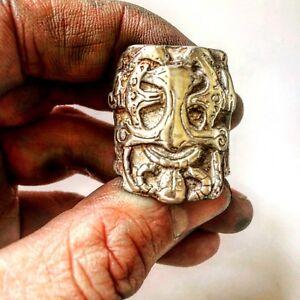 Mens Viking Ring. Men's Large Thor Biker Ring, Statement Ring | LUGDUN ARTISANS