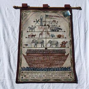 "Noah's Ark Cindy Shamp Tapestry Wall Hanging 26"" x 36"""