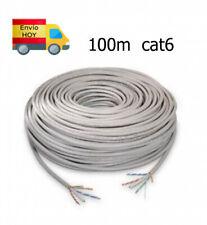 Bobina Cable de Red Ethernet 100m RJ45 CAT6 Gigabit 100 metros ENVIAMOS HOY