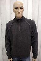 NAPAPIJRI Taglia XL Maglione Grigio Uomo Lana Casual Pull Pullover Sweater