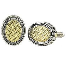 Andrea Candela 18Ct Oro Amarillo & Plata de Ley Weave Diseño Gemelos ACM01-GO