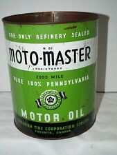 RARE VINTAGE 40S GREEN MOTOMASTER OIL CAN 1 GALLON  CANADIAN TIRE N-81