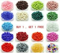 Free Shipping 100pcs 4mm 6/0 Czech Glass Seed Spacer Beads Jewelry Making New