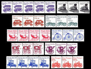 US. TRANSPORTATION ISSUE LINE PAIRS - SOME W/PLATE #S - OGNH - VF (ESP#0558)