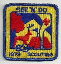 BSA See 'n' Do Scouting 1979 Patch V9