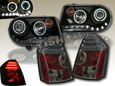 05-07 CHRYSLER 300C&SRT8 CCFL HALO PROJECTOR HEADLIGHTS+SMOKE LED TAIL LIGHTS 06