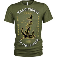Tattoo Palor T-Shirt vintage anchor pain original Unisex Mens
