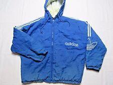 VTG  90S ADIDAS HOODED jacket DISTRESSED jacket blue mens XL TREFOIL coat