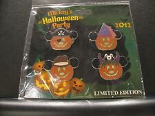 New, Still in Pack - Mickey's Halloween Party 2012 Limited Edition  4-Pin Set