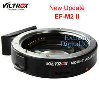 Viltrox EF-M2 II AF Adapter Speed Booster for Canon EOS EF Lens to MFT M43 M4/3