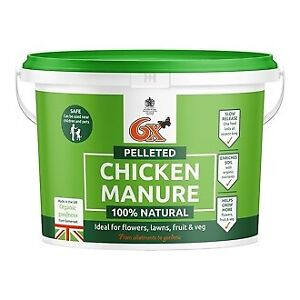 Vitax 6X Pelleted Chicken Manure Fertiliser - 8kg tub