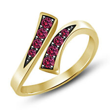 0.20 Ct Pink Sapphire Adjustable Toe Ring Ladies 14K Yellow Gold Over 925 Silver