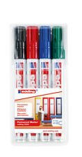 Set of 4 Edding 3000 Permanent Marker 3000/4 1,5 -3mm 4-3000-4 NIP