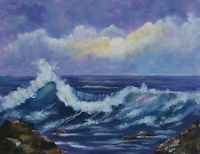 Seascape ocean  painting reproduction print 8x10 on cardstock of original