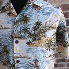 Men's Hilo Hattie Hawaiian Shirt Waikiki Diamondhead Honolulu Hale Medium M