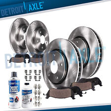 Front and Rear Brake Rotors + Brake Pads 10-14 Forester Legacy Outback Impreza