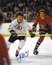 JOHN WENSINK In ACTION vs HABS Auto SIGNED 8x10 LEGENDARY BRUINS ENFORCER WoW