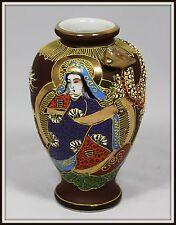 """Lovely """"Hand Crafted Japanese Satsuma Dragon Vase""""  Wonderful Moriage"""