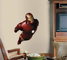 Iron Man Wall Deco Set 21 Appliques & Large Mural New!