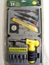 Ratchet Driver Set Screwdriver Bit Ext Power Socket Bits Knife Tweezer Tape Case