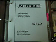 Palfinger BS 43-A Auxiliary Stabilizers Parts List