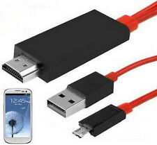 For Samsung Galaxy S3 4 Note 2 3 Micro USB MHL to HDMI TV AV Cable Adapter HDTV