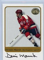 2001-02 FLEER DENNIS MARUK GREATS OF THE GAME AUTOGRAPH