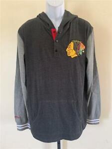 New Chicago Black Hawks Mens Size L Large Gray Mitchell & Ness Shirt