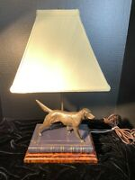 HUNTING DOG TABLE LAMP ANTIQUE BRONZE/GRECIAN BRONZE
