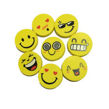 4 x Pieces Emoji Smile Erasers for Kids Party Bag Fillers