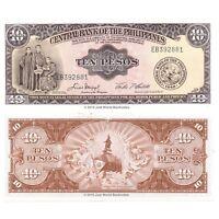Philippines 10 Pesos 1949 P-136e Banknotes UNC