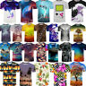 Hot 3D Print Pattern T-Shirt Men/Women Casual Summer Cool Short Sleeve Top Tee
