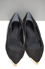 *ALEXANDER McQUEEN Metal Tip Suede Low-Heel Point Toe ballet Flat Shoes 8 US 39