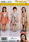 SIMPLICITY SEWING PATTERN 1208 GIRLS SZ 3-8 DRESSES, BAGS & HEADBAND