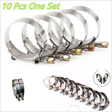 "10In1 2.5"" (64mm-74mm) Stainless Steel Car Van Autos Silicone Hose T-Bolt Clamps"