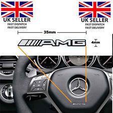 X2 AMG Volante ADESIVO Badge Emblema Logo Mercedes Benz in lega Smart