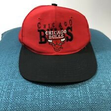 9f9ce425a67b Vintage Chicago Bulls Red Adjustable Snapback Hat Cap NBA Basketball 90s
