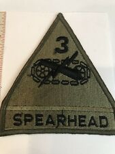 3rd  Armored Division WWII SPEARHEAD  Vintage US Army #039