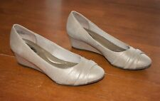 Womens Coach and Four Gold Wedges - Size 6.5