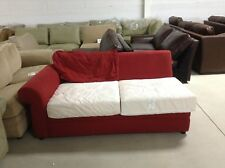 Pottery Barn Pearce Couch Sofa Sectional Cardinal Canvas Left Arm Loveseat down
