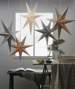 Papierstern Weihnachtsstern Leuchtstern LED Stern Lichterkette Decorus gold kupf