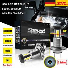 Canbus 360° 110W 30000LM H7 Auto LED-Scheinwerfer Lampen Kit Xenon Weiß 6000K