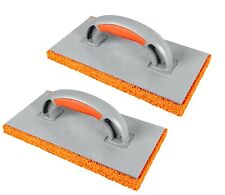 2 x Orange Rubber 18mm Sponge Float 280mm Plastering Rough Coarse Rendering