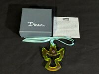 DAUM FRANCE AMBER GLASS ANGEL CHRISTMAS ORNAMENT DE NOEL - Amethyste with Box